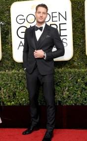 Justin Hartley Golden Globes Red Carpet