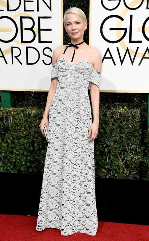 Michelle Williams Golden Globes Red Carpet