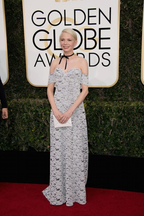 """Nominated for BEST PERFORMANCE BY AN ACTRESS IN A SUPPORTING ROLE IN A MOTION PICTURE for her role in """"Manchester by the Sea,"""" actress Michelle Williams attends the 74th Annual Golden Globes Awards at the Beverly Hilton in Beverly Hills, CA on Sunday, January 8, 2017."""