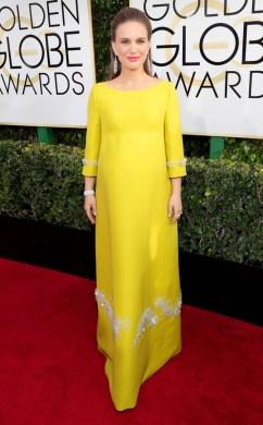 Natalie Portman Golden Globes Red Carpet