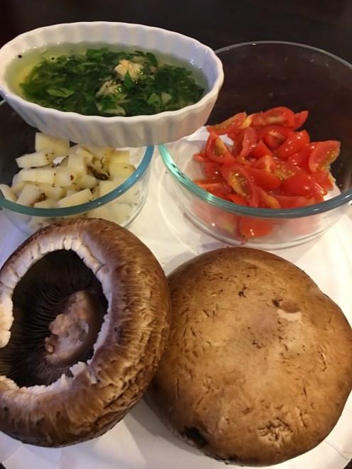 Caprese Mushrooms Super Bowl 4Chion Lifestyle