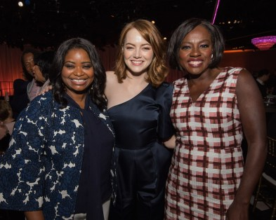 Oscar® nominees Octavia Spencer, Emma Stone and Viola Davis at the Oscar Nominees Luncheon in Beverly Hills Monday, February 6, 2017. The 89th Oscars® will air on Sunday, February 26, live on ABC.