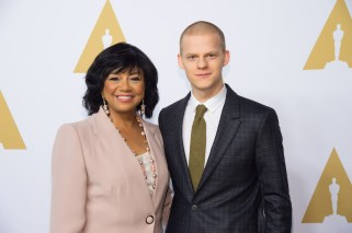 Academy President Cheryl Boone Isaacs with Oscar® nominee Lucad Hedges at the Oscar Nominee Luncheon held at the Beverly Hilton, Monday, February 6, 2017. The 89th Oscars will air on Sunday, February 26, live on ABC.