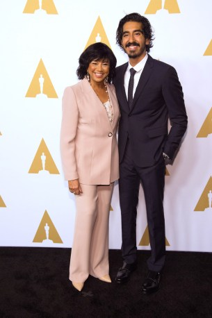 Academy President Cheryl Boone Isaacs with Oscar® nominee Dev Patel at a Luncheon held at the Beverly Hilton, Monday, February 6, 2017. The 89th Oscars will air on Sunday, February 26, live on ABC.