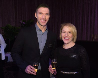 Oscar® nominees Travis Knight and Arrianne Sutner at the Oscar Nominee Luncheon held at the Beverly Hilton, Monday, February 6, 2017. The 89th Oscars will air on Sunday, February 26, live on ABC.