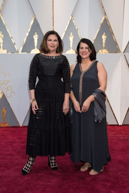 Oscar®-nominees Colleen Atwood and Anna Pinnock arrive at The 89th Oscars® at the Dolby® Theatre in Hollywood, CA on Sunday, February 26, 2017.