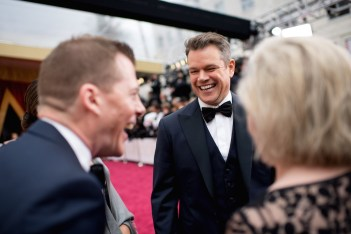 Matt Damon, Oscar® nominee, arrives on the red carpet of The 89th Oscars® at the Dolby® Theatre in Hollywood, CA on Sunday, February 26, 2017.
