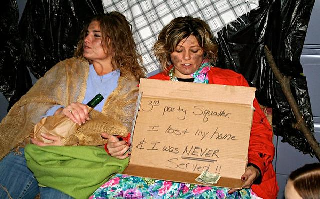 Employees at Steven. J. Baum LLC mock the homeless