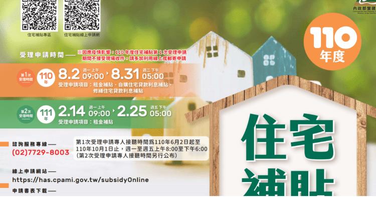 【實用】110年度自用住宅補貼➤這兩年有買房的朋友注意啦! 申辦教學文! 2021住宅補貼更新