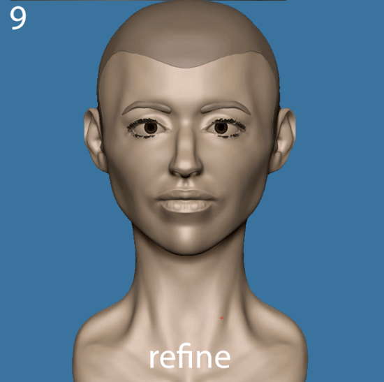 Refine the sculpture
