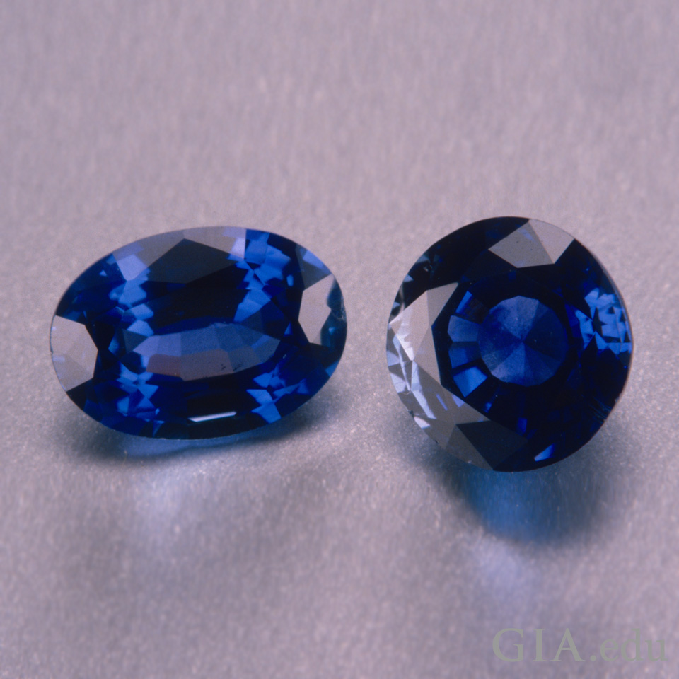Two heat-treated Madagascar sapphires