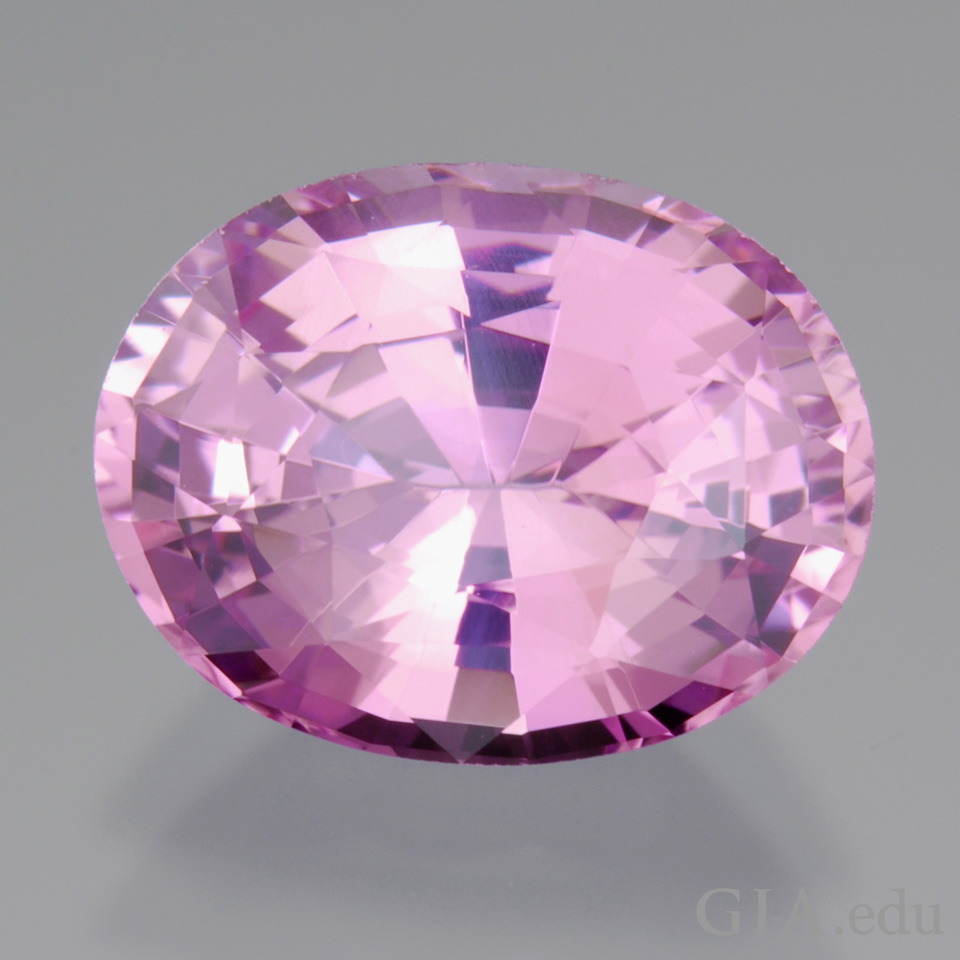 oval shape 6.39 ct pink sapphire