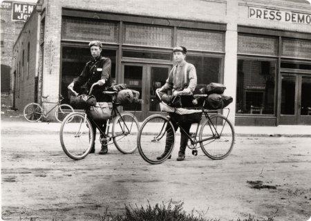Historic photo of the original bikers