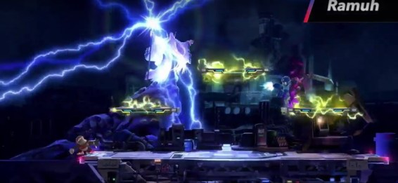 Smash Bros 3DS Midgar Stage summon