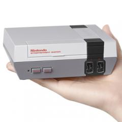 Mini NES in hand