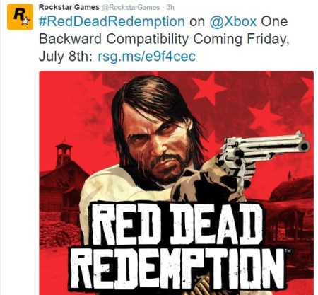 Red Dead redemption tweet
