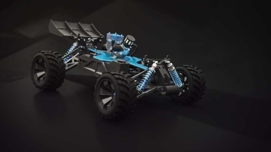 RC Car 3D Visualisierung Animation