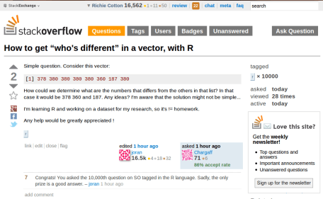 R's 10000th question on stackoverflow