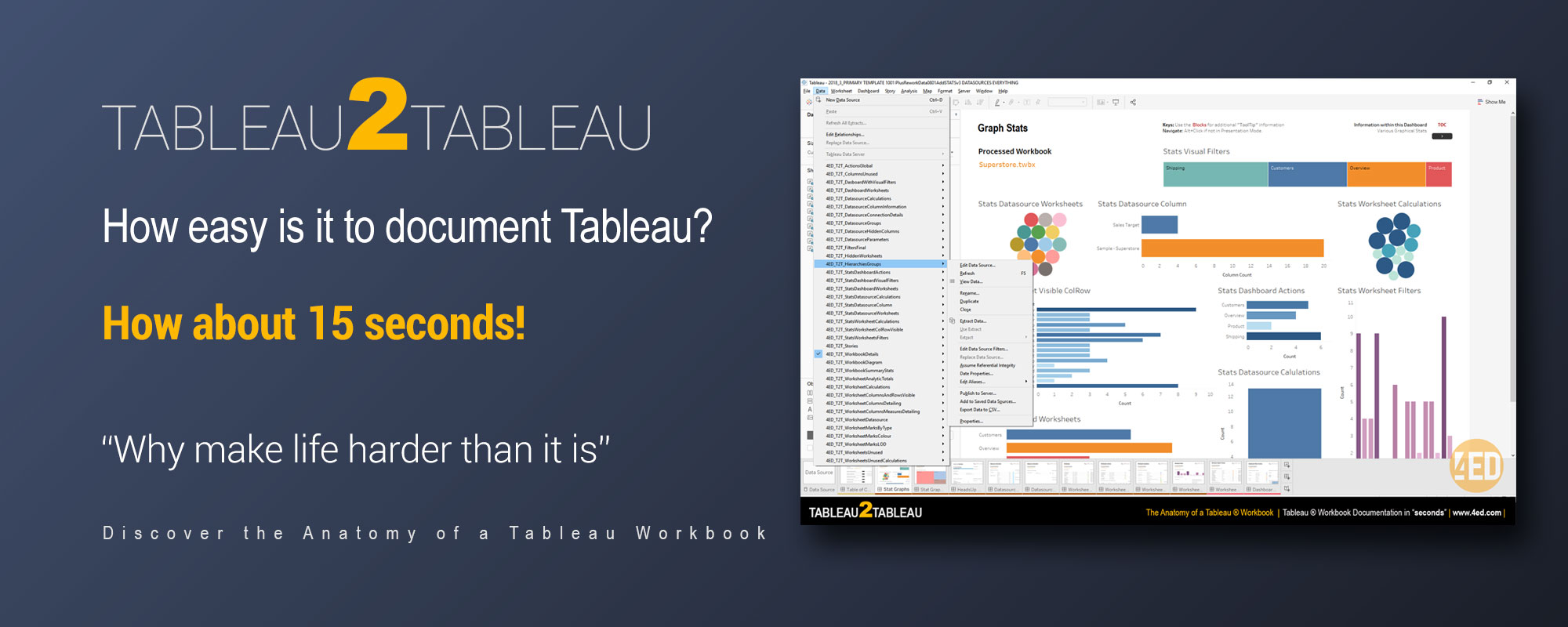 How To Easily Document Your Tableau Workbooks Why