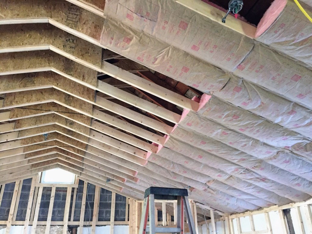 Insulating the ceiling — New Building Project
