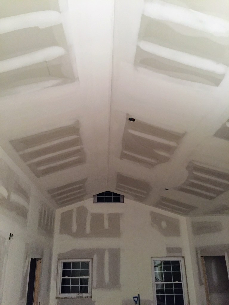 Drywall completed — New Building Project