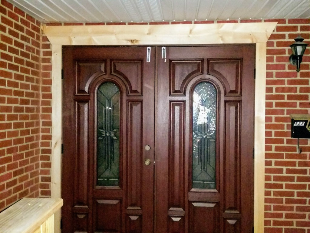 New front entrance door — New Building Project