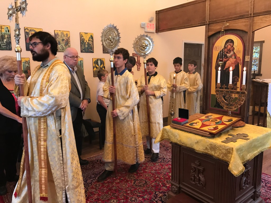 1st Divine Liturgy in new church — October 09, 2016