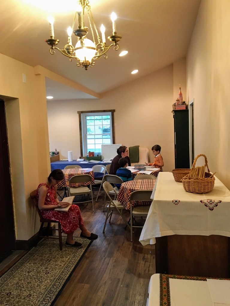 1st Sunday School session in new church before 1st Liturgy — October 09, 2016