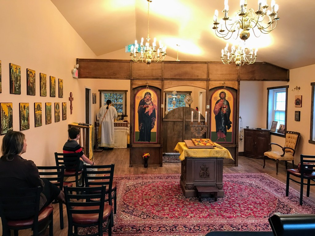 Before the 1st Divine Liturgy in new church — October 09, 2016