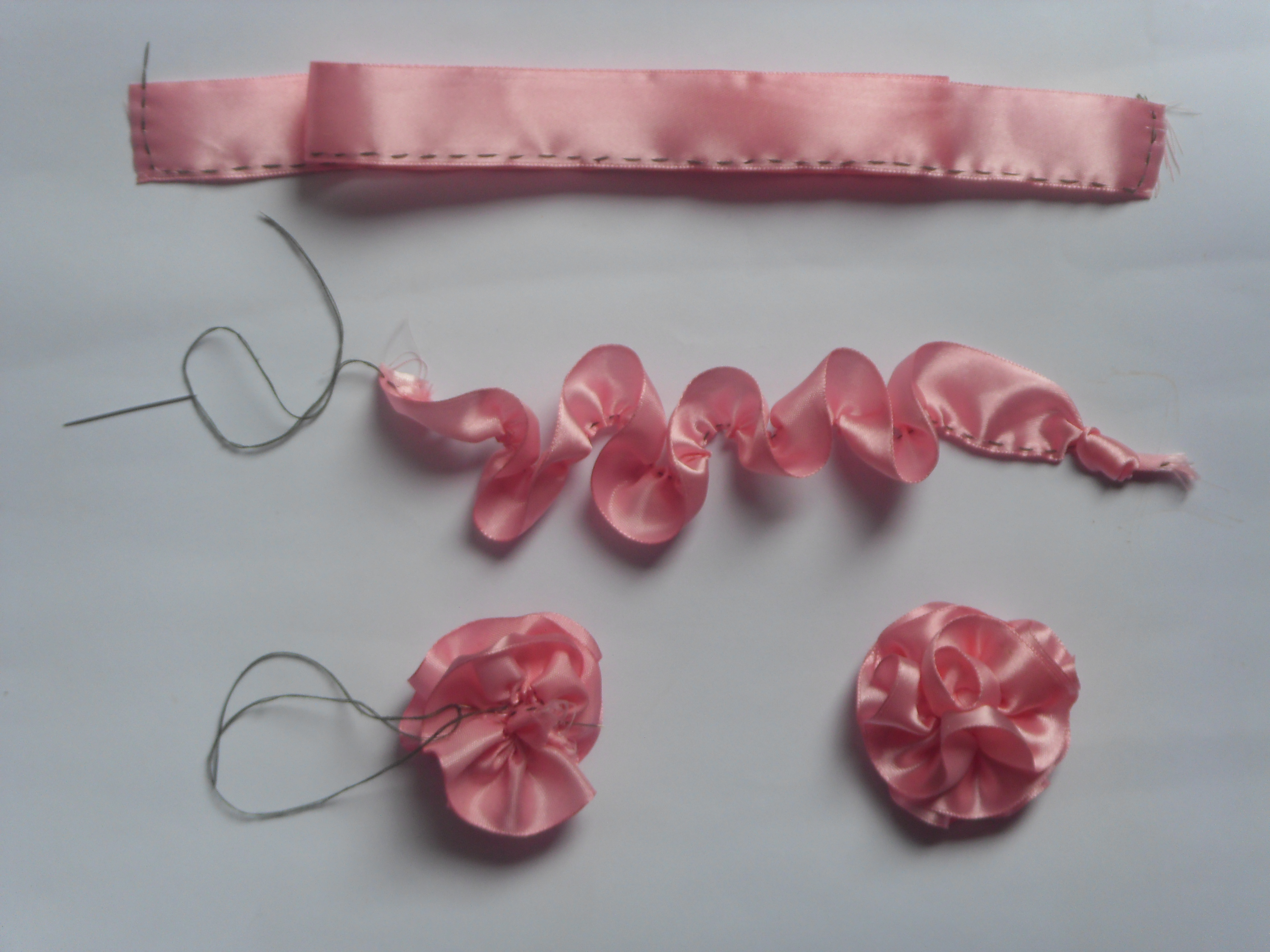 Ribbon Flower Making   4evercrafting Ribbon Flower Making