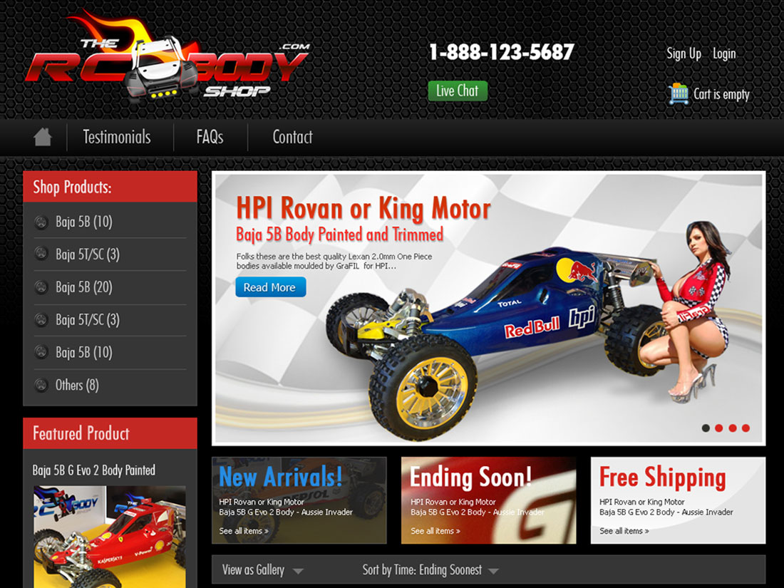 RC Body Shop – eBay Page Design
