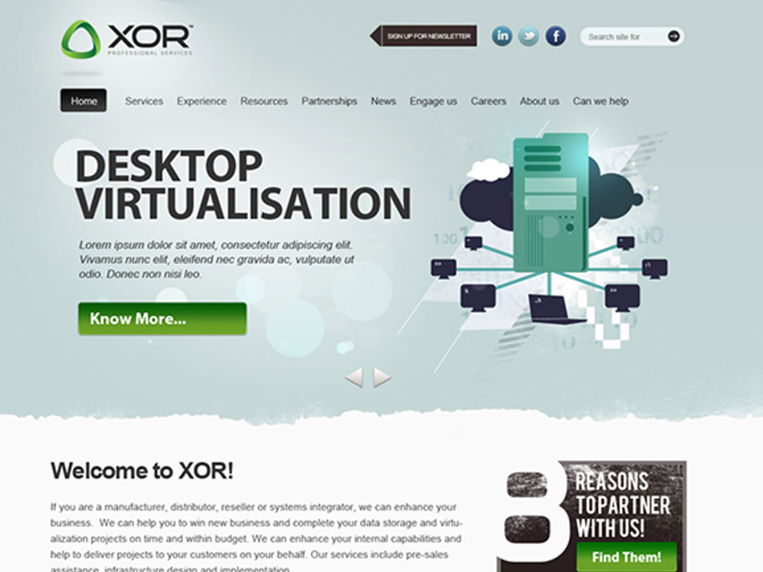 XOR – Website Design