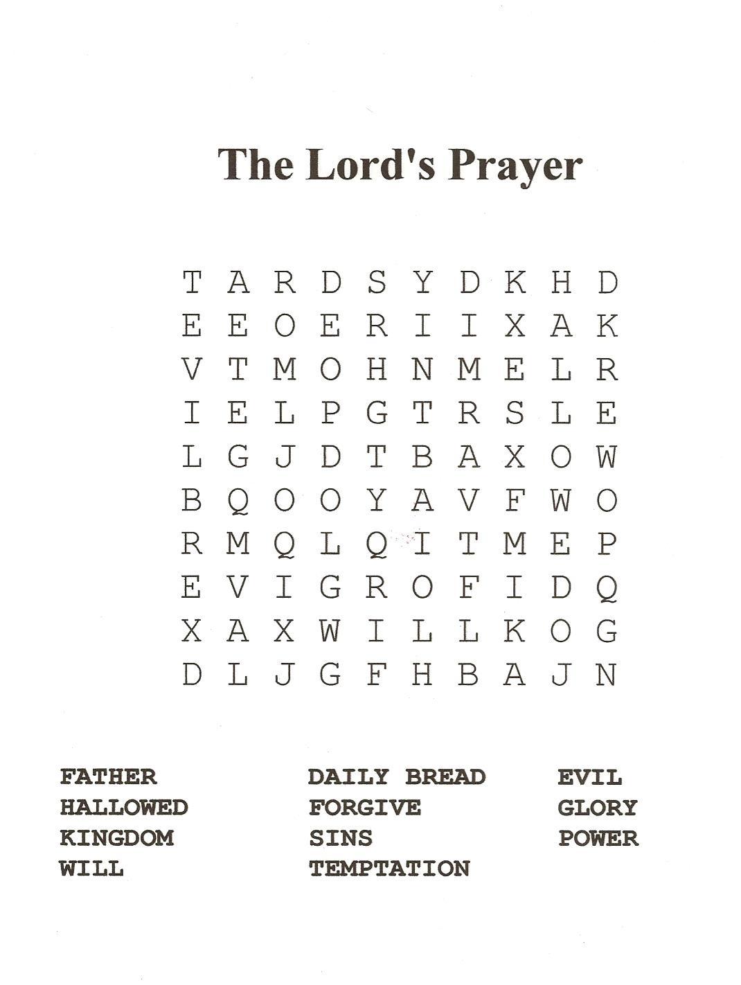 Catholic Mass Word Search