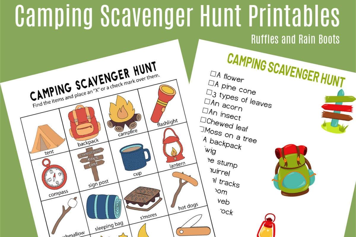 Free Printable Scavenger Hunt For Kids
