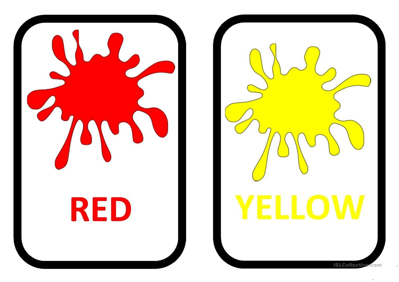 Colours Flashcards Worksheet