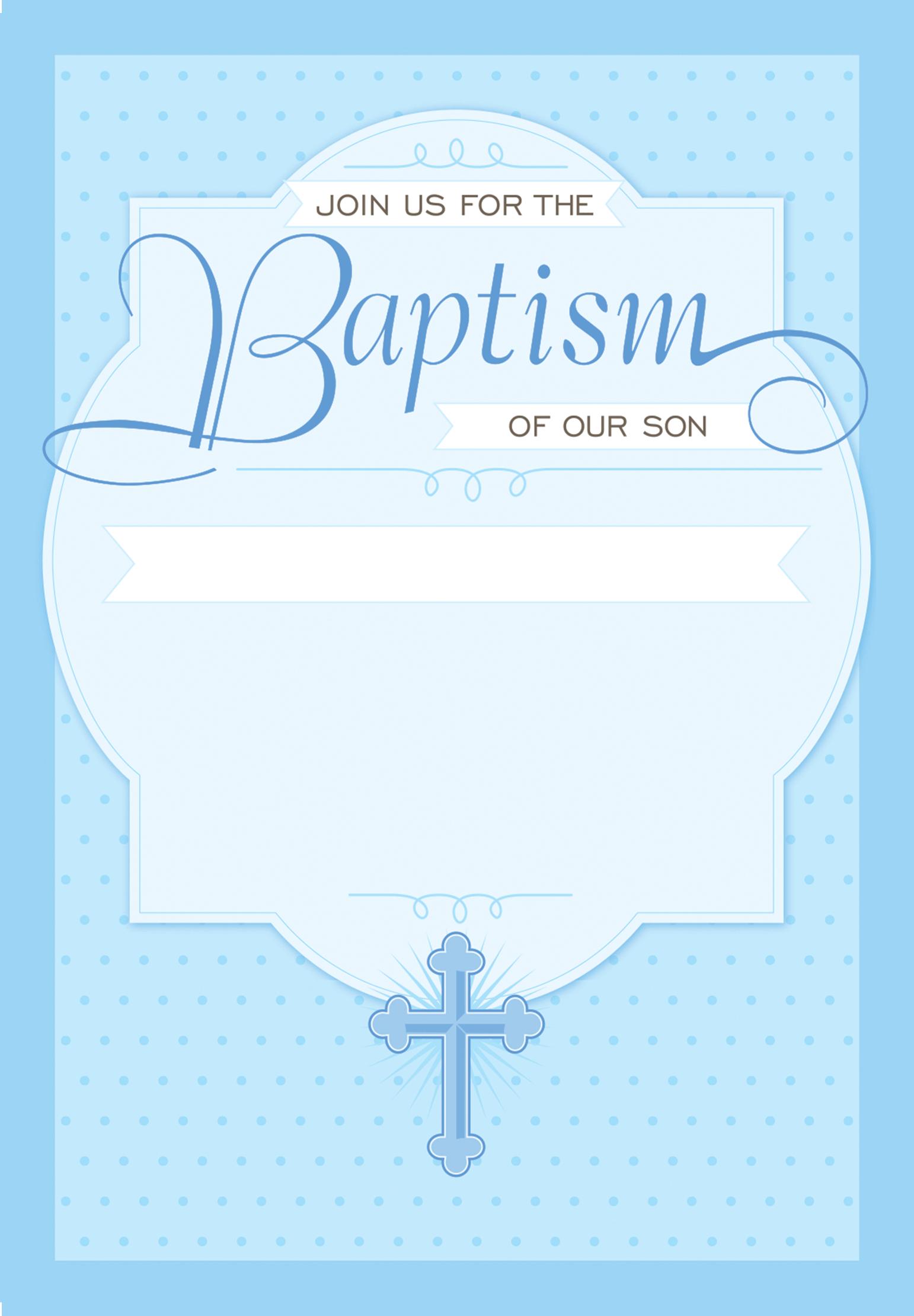 Free Christening Invitation Template Printable