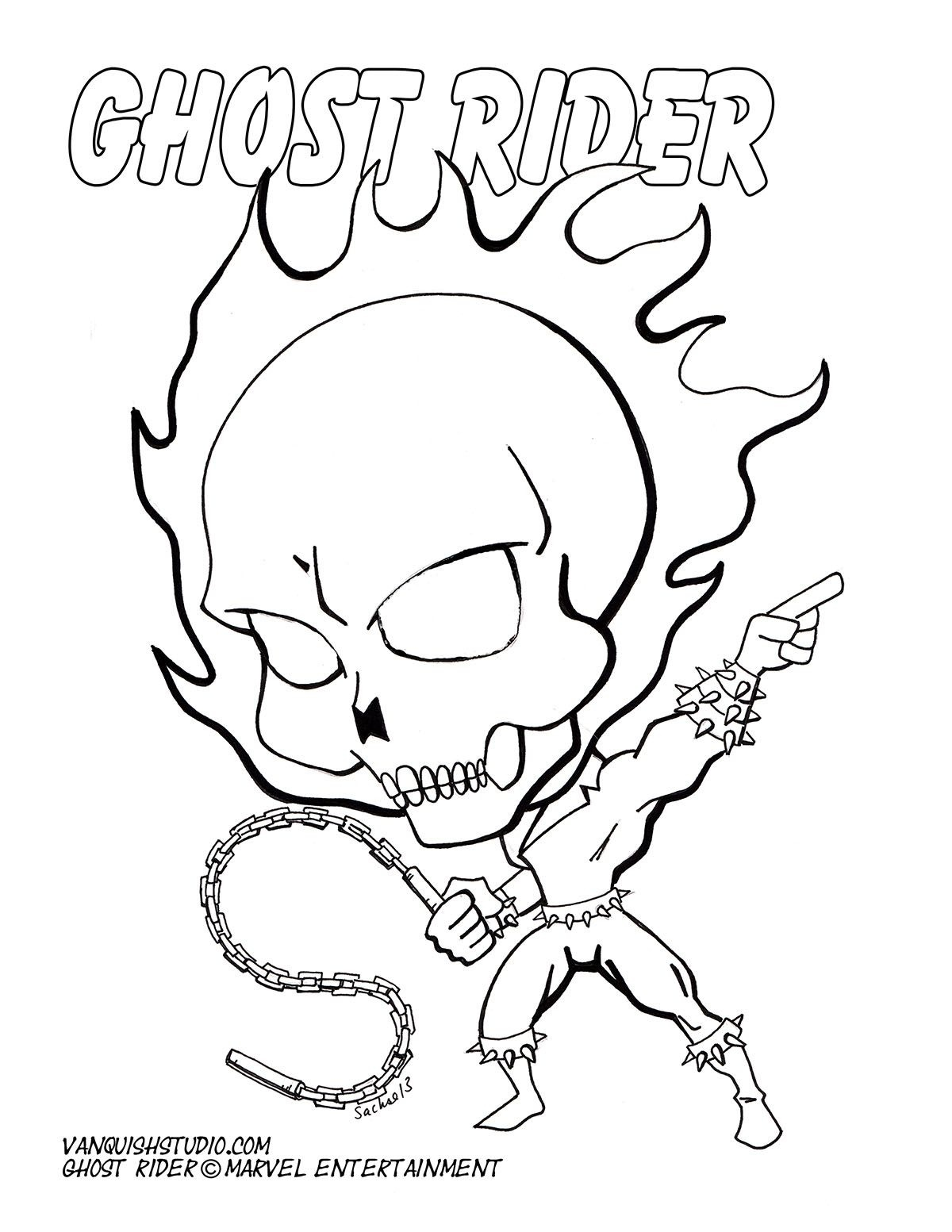 Free Printable Ghost Rider Coloring Pages
