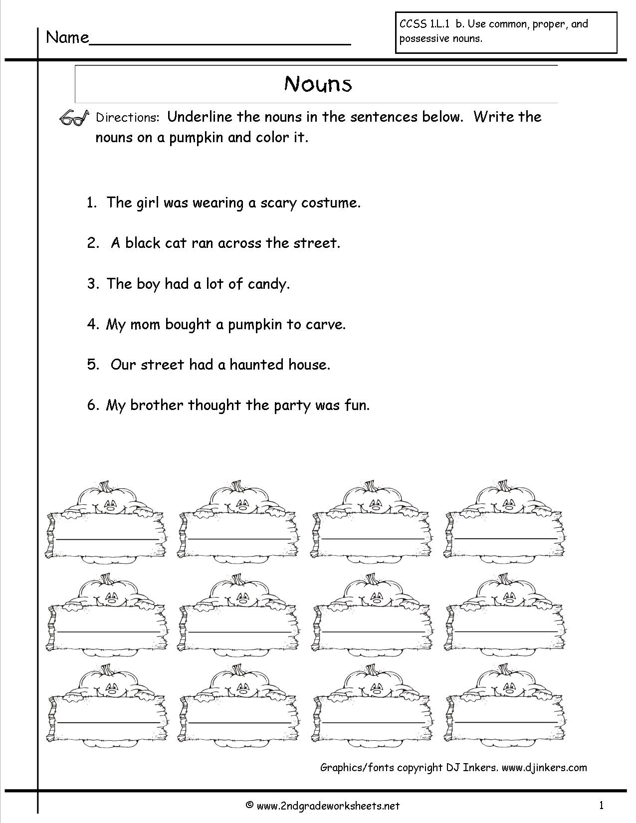 Free Printable Verb Worksheets