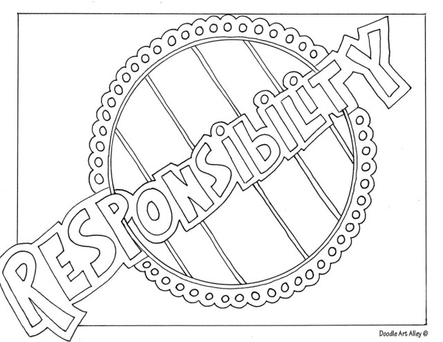 Respect Coloring Pages Free Printable