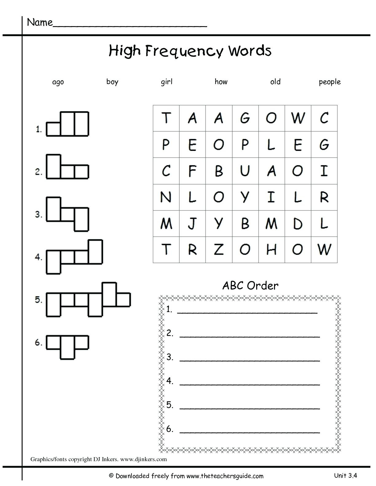 Free Printable Language Arts Worksheets For 1st Grade