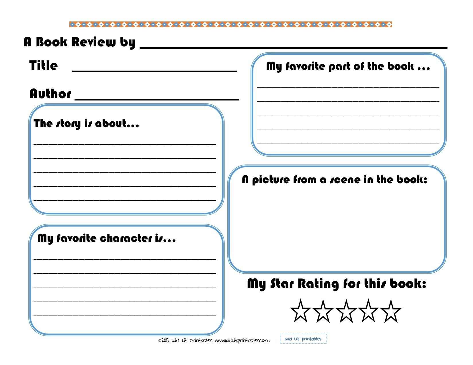 Free Printable Book Report Forms For Second Grade