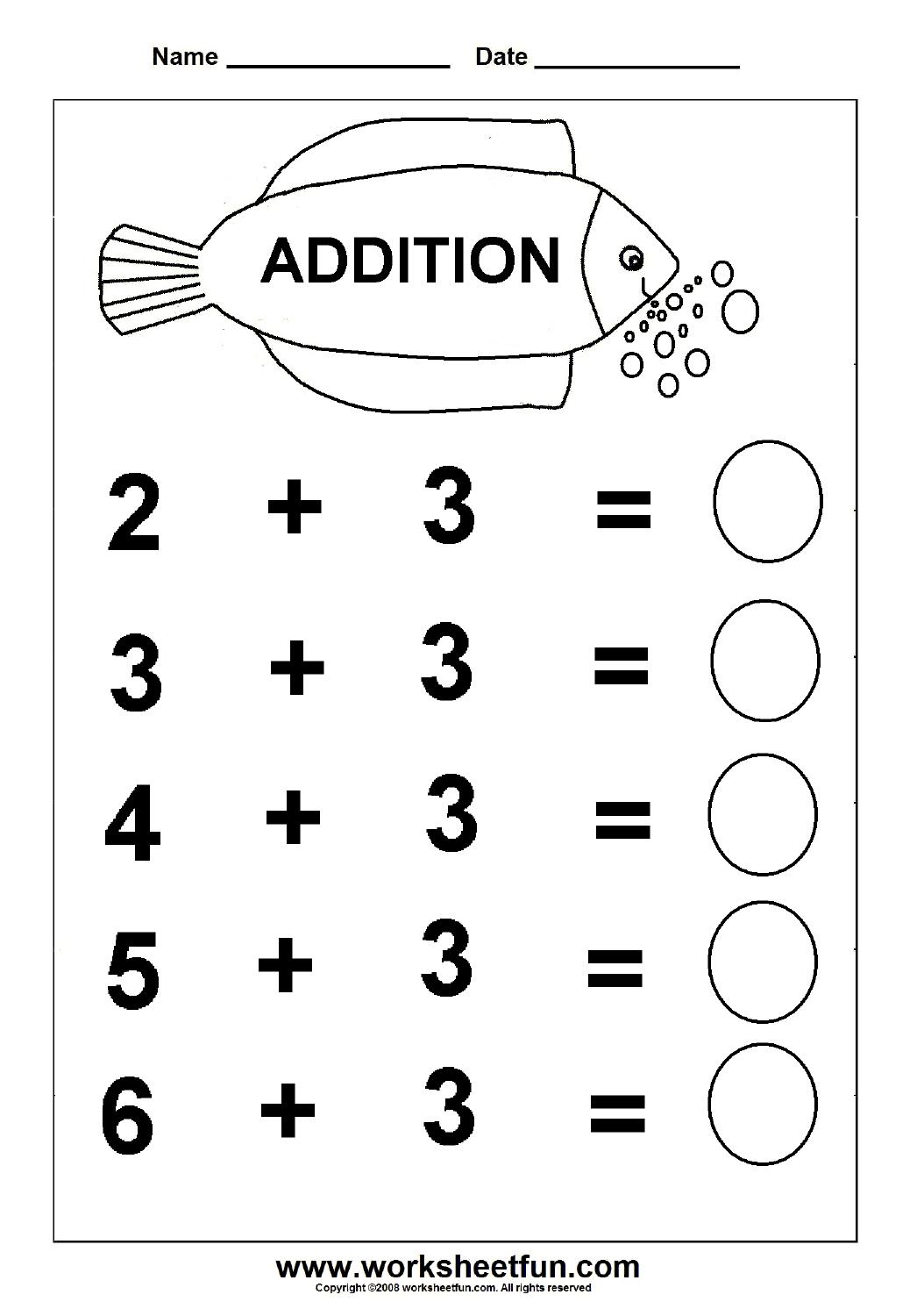 Free Printable Simple Math Worksheets