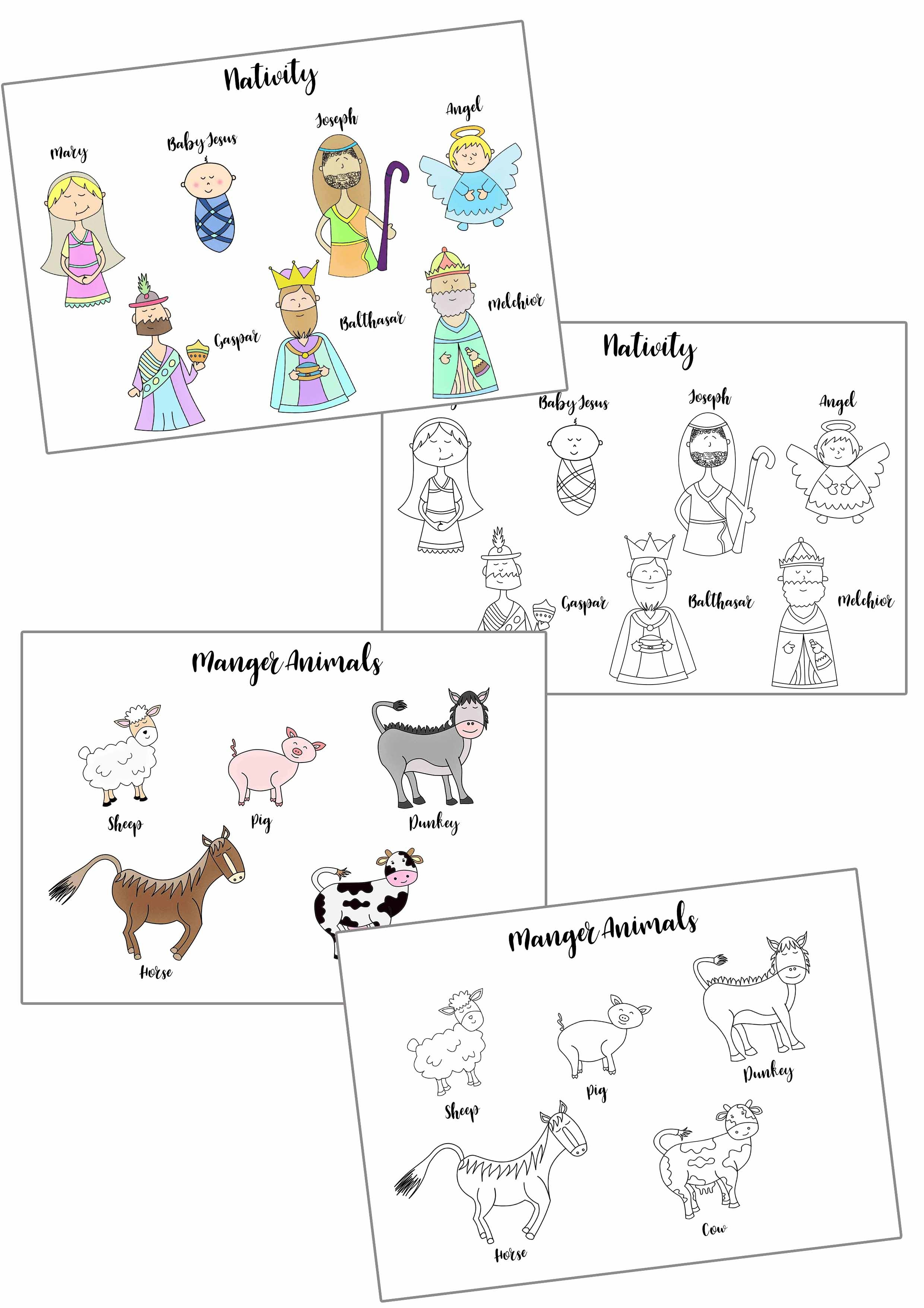 Free Printable Nativity Coloring Pages For Kids
