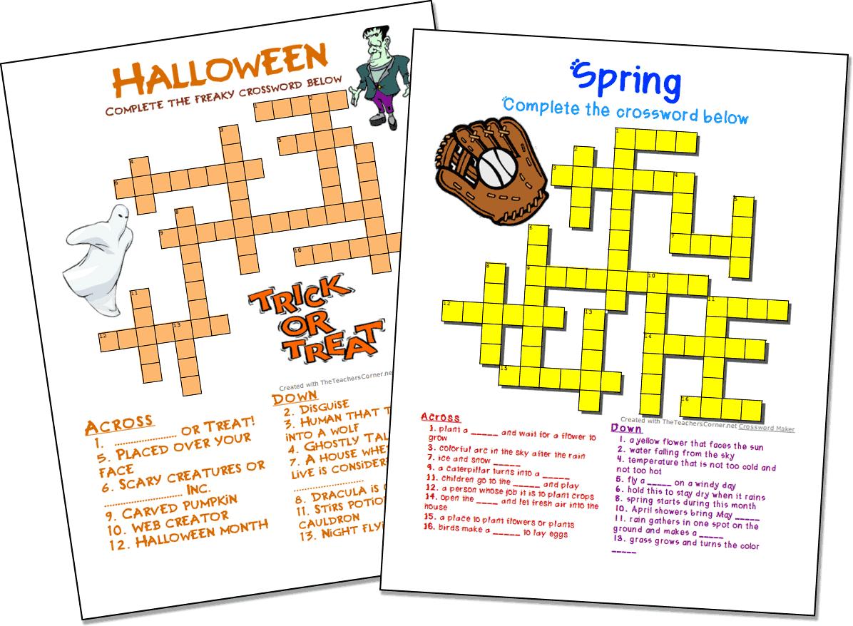 Easy Printable Crossword Puzzles