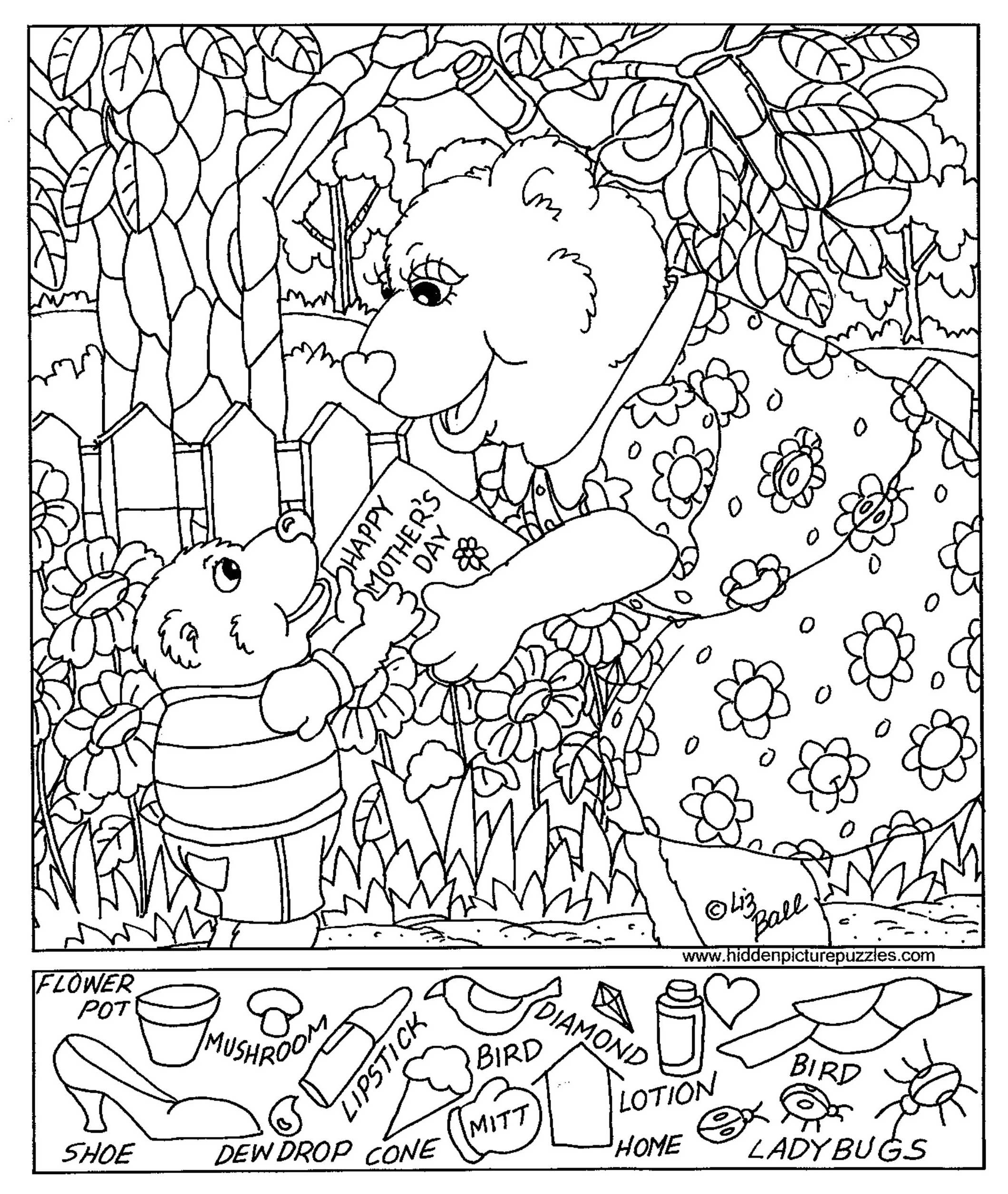 Coloring Page Hiddene Coloring Pages Free Printables