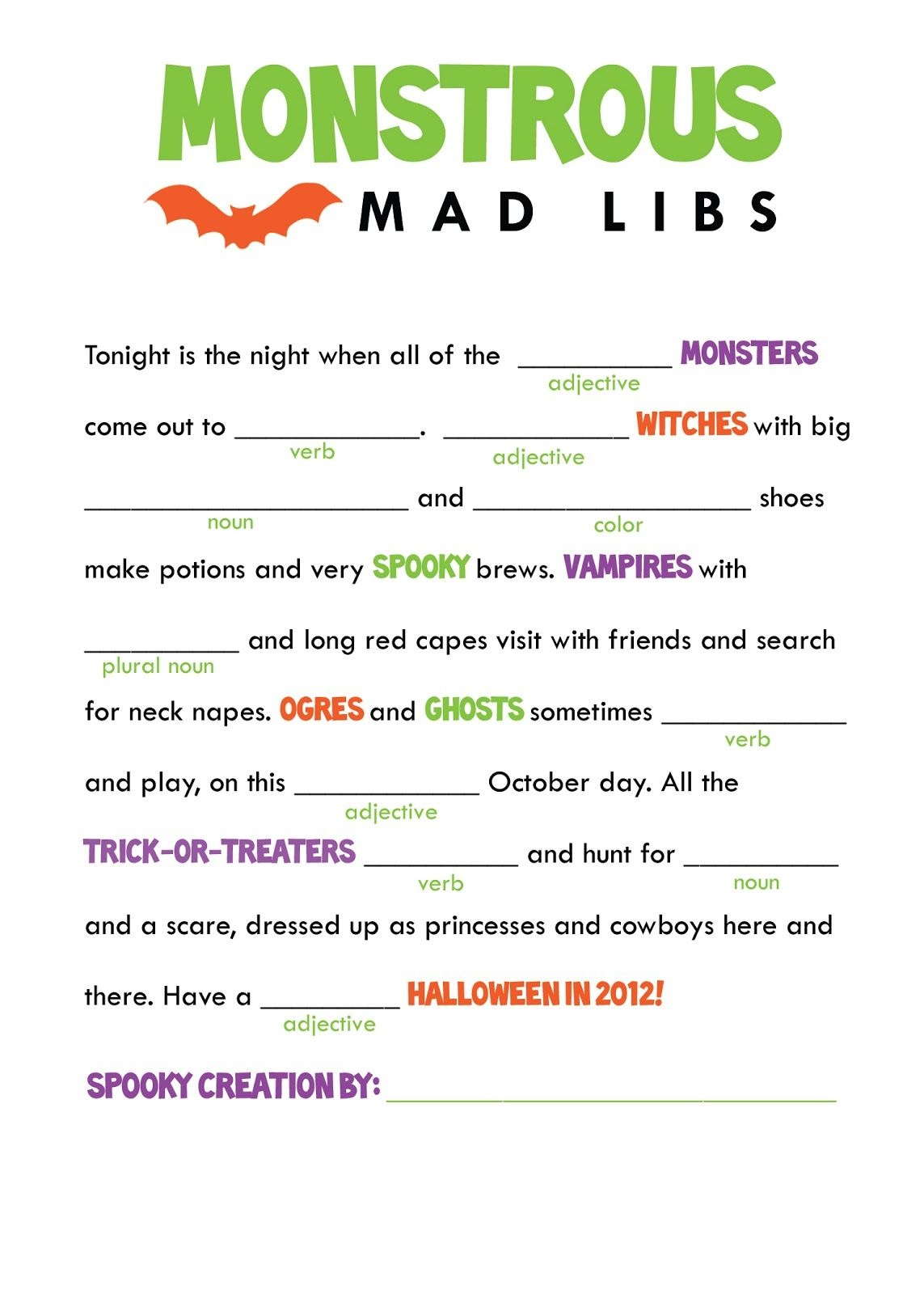 Mad Libs For Dads A Fun Father S Day Printable