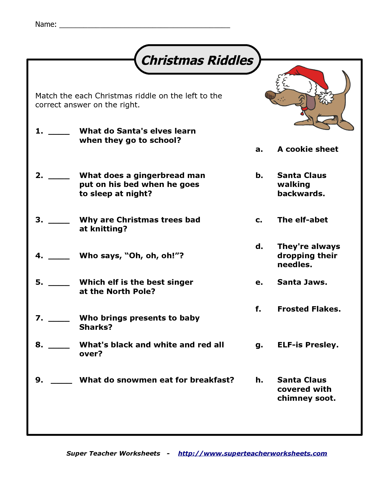 Free Printable Riddles With Answers