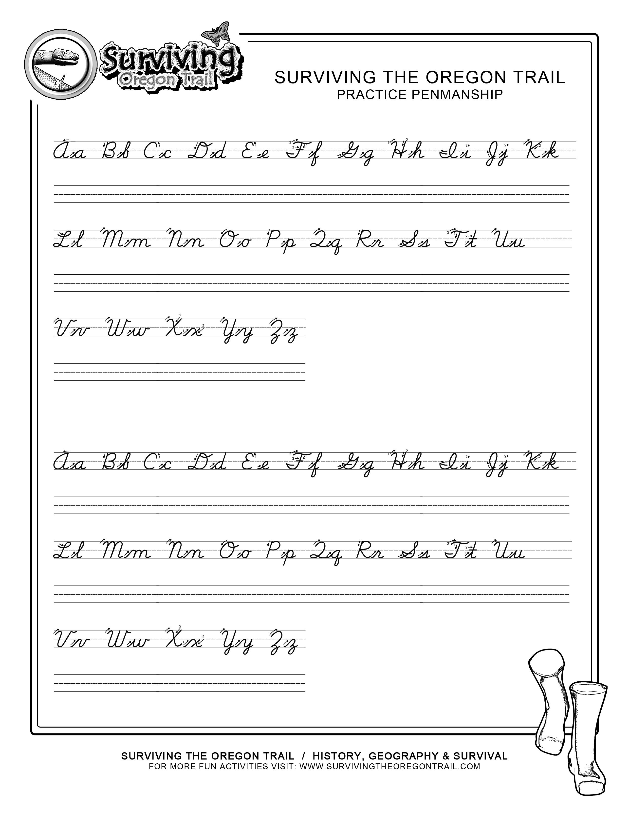 Free Printable Cursive Writing Paragraphs