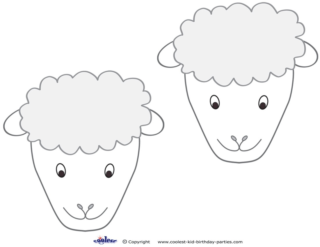 Free Printable Sheep Mask