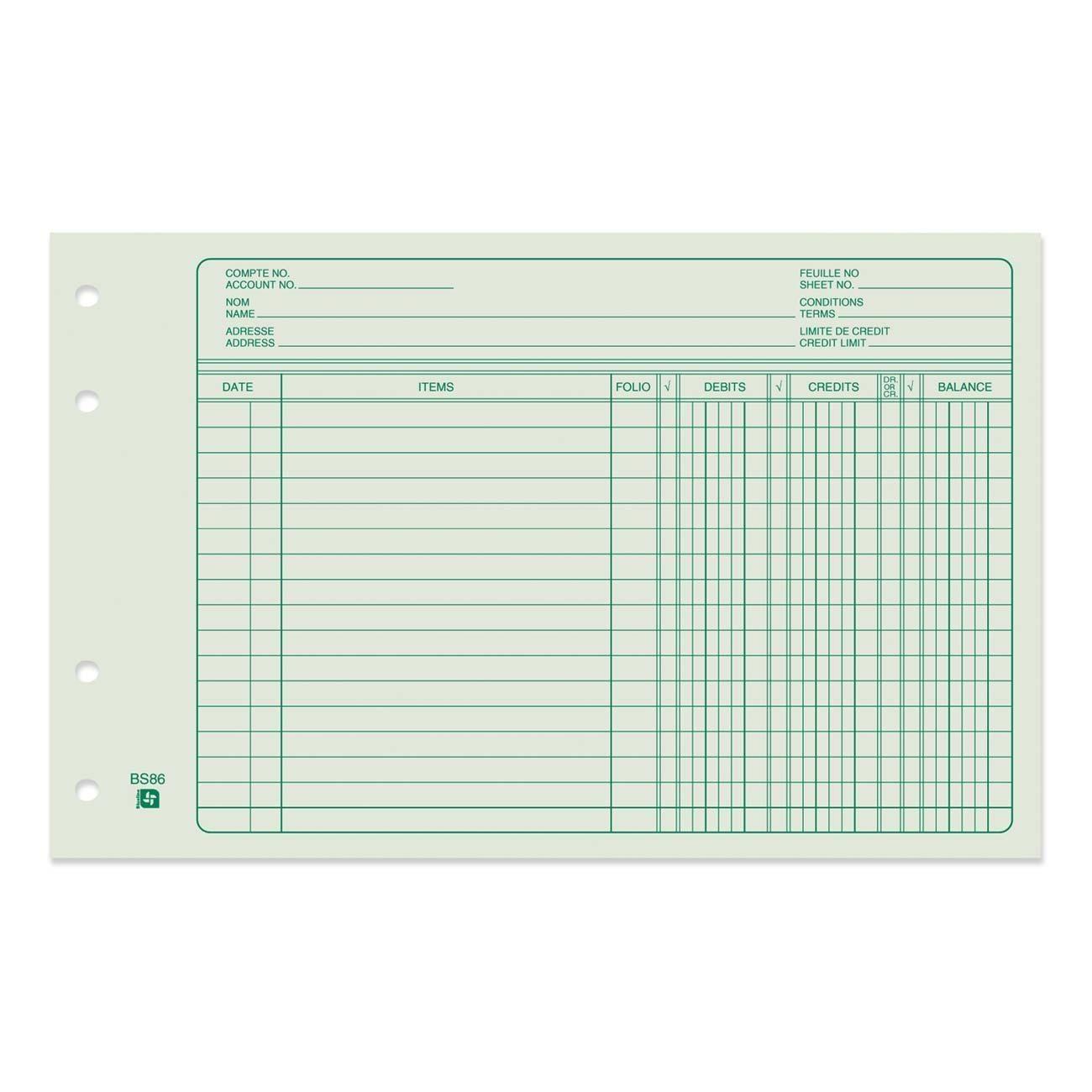 Free Printable 4 Column Ledger Paper